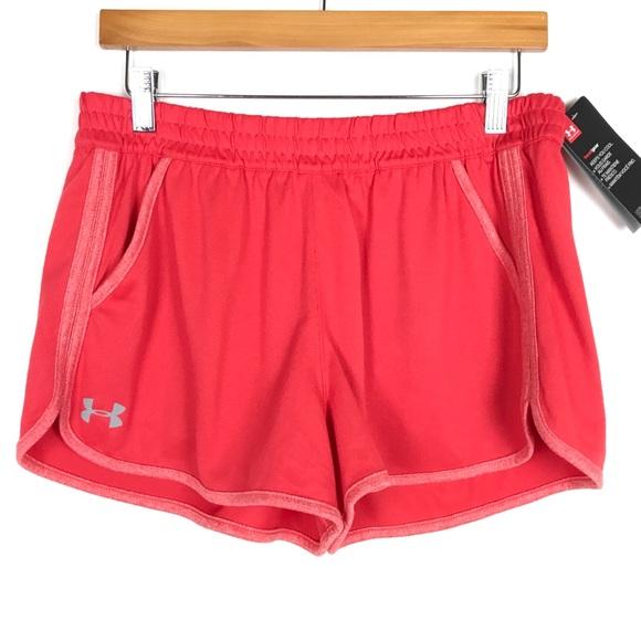 Under Armour Pants - UNDER ARMOUR Hear Gear Shorts Sz Medium Red